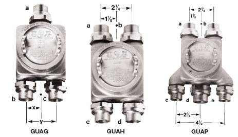 Gua Series Explosionproof Junction Boxes With Union Hubs